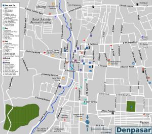 Denpasar Map