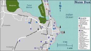 Nusa Dua Map