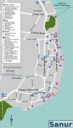 Sanur Map