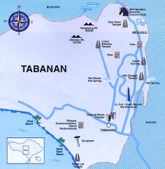 Tabanan Map